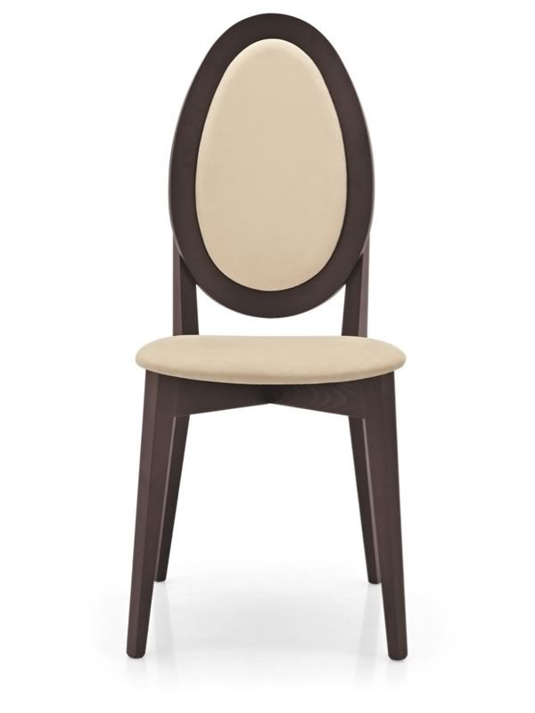 431 silla de madera te ida wengu con asiento respaldo for Sillas de madera tapizadas en tela