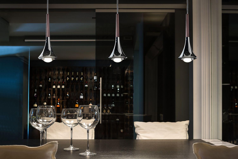 Rain lampada a sospensione di design in metallo led