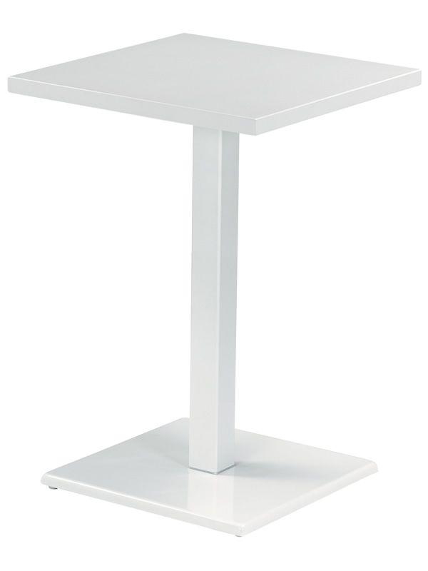 Round a table haute emu en m tal pour jardin plan de for Table haute plan de travail