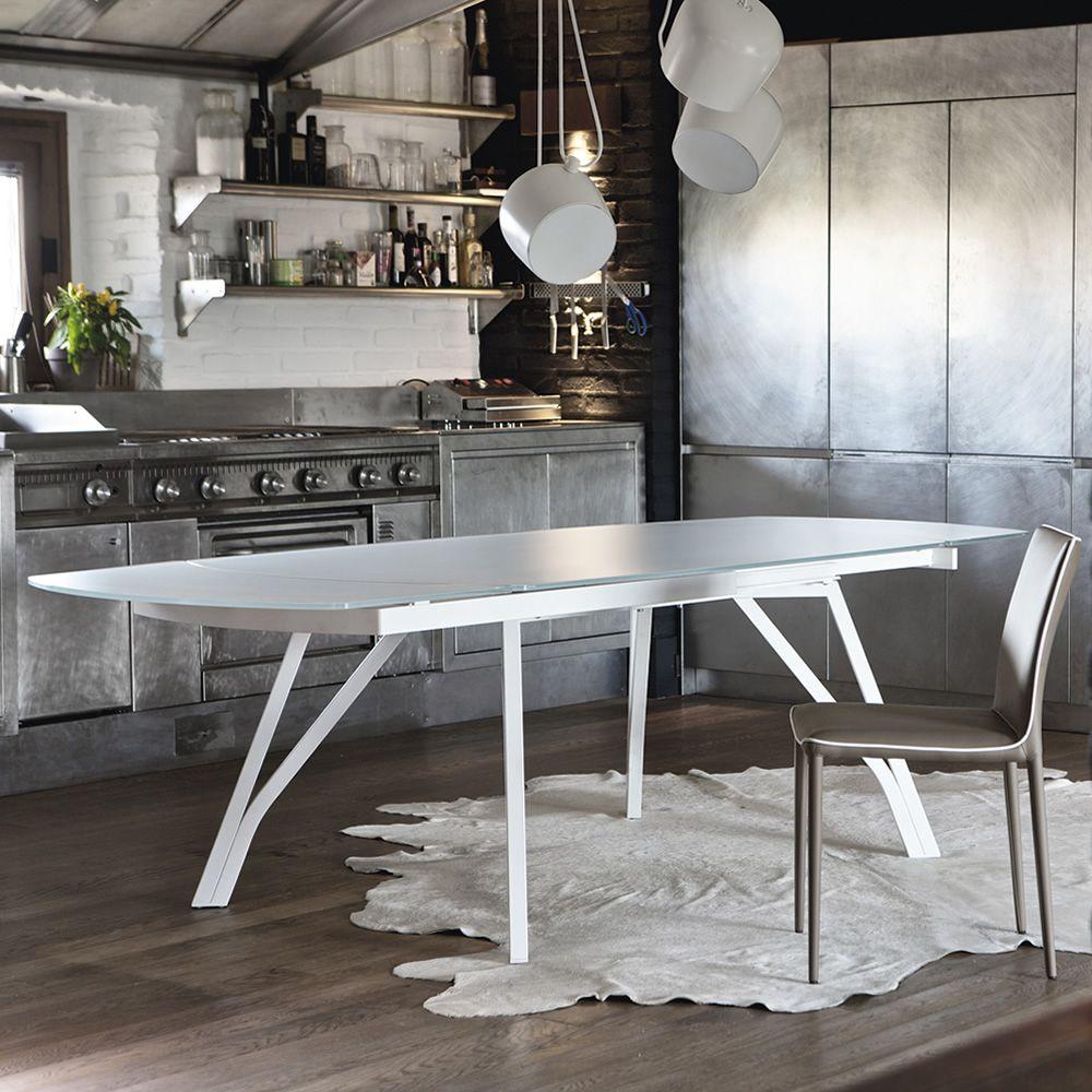 Wonder tavolo di design di bontempi casa in metallo con for Tavolo di design in metallo