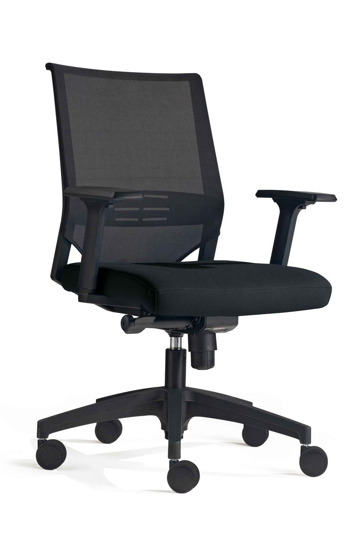 real arbeitsstuhl f r b ro basis aus nylon mit netzr cken und gepolsterter sitz mit oder. Black Bedroom Furniture Sets. Home Design Ideas
