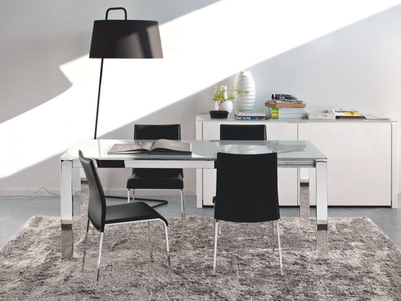 Tavoli Per Soggiorno Moderni. Tavolo Moderno Allungabile X Bianco In ...