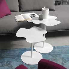 Flower - Tavolino di design Bontempi Casa, in acciaio laccato, diversi colori disponibili