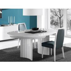 Anversa - Mesa de diseño redonda, extensible