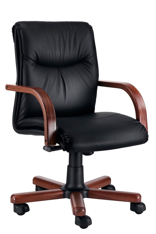Sally wood low sill n ejecutivo en madera de nogal con for Sillones ejecutivos para oficina