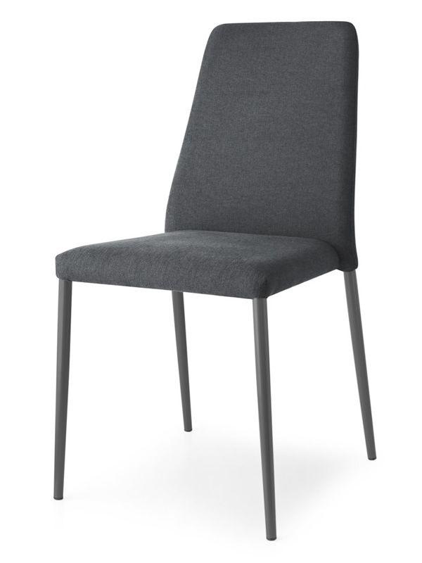cb1462 club chaise connubia calligaris en m 233 tal assise garnie en tissu en diff 233 rentes
