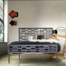 Mondrian 120 - French bed made of iron