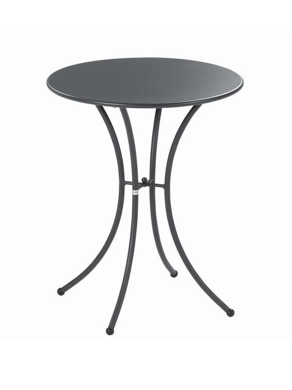 Pigalle emu table made of metal for garden round top of for Table exterieur largeur 60 cm