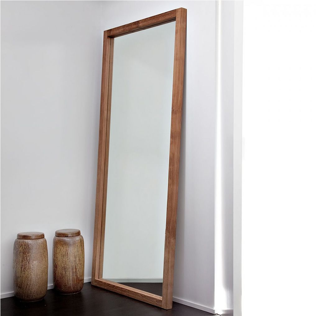 lf t miroir ethnicraft avec cadre en bois disponible en diff rentes hauteurs sediarreda. Black Bedroom Furniture Sets. Home Design Ideas
