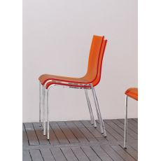 Eva M - Midj stackable chair made of metal and methacrylate, different colours available