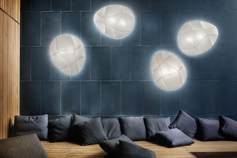 Plafoniera Tessuto Design : Millo lampada a soffitto o parete di design in metallo e
