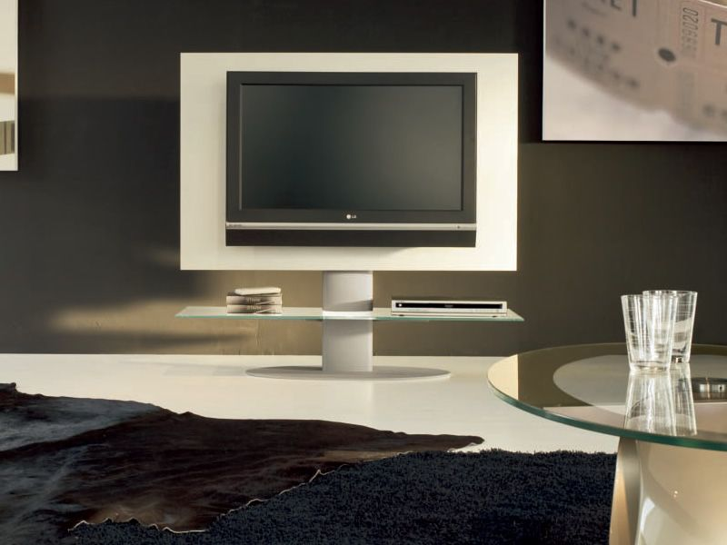 Cortes 7095: Tonin Casa TV stand made of wood and metal with glass ...