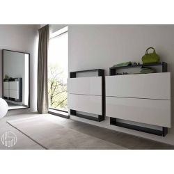 Hosoi 106 meuble d 39 entr e suspendu porte chaussures dot de deux abatt - Marque de mobilier design ...