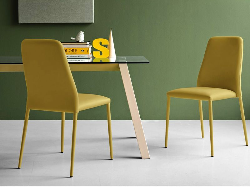 Cb4781 t table tavolo fisso connubia calligaris in for Chaise cuir jaune