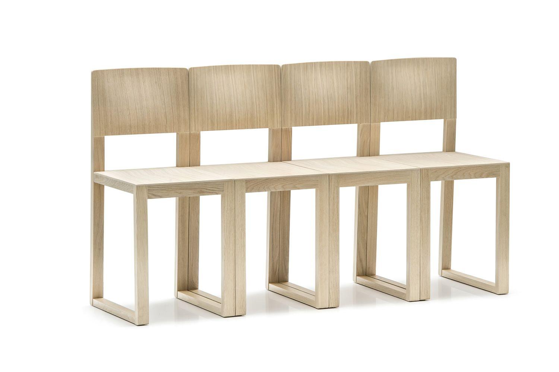 Brera 380 Chaise design Pedrali en chêne massif et différentes couleurs  Se -> Bois En Chaene