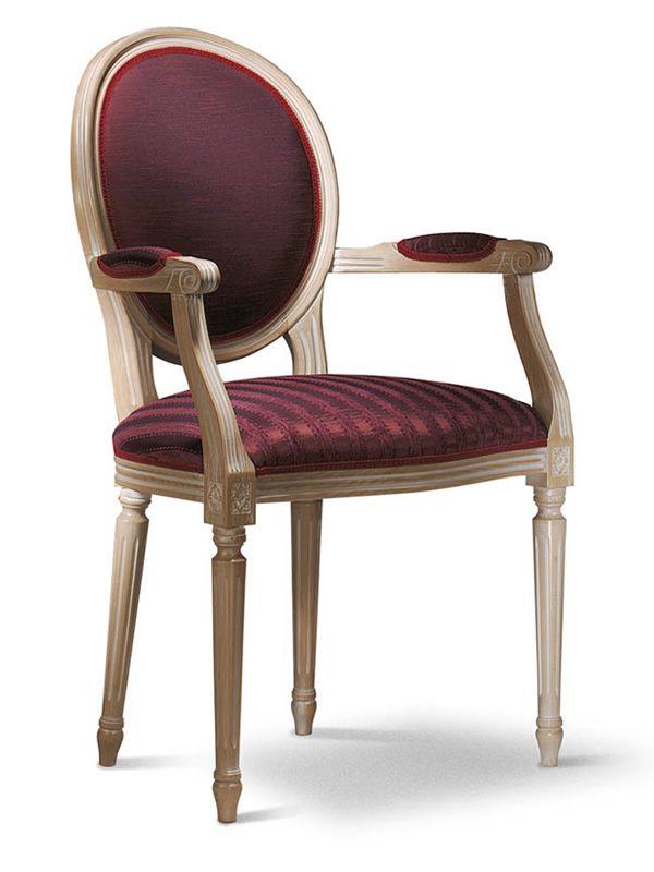 vst158 fauteuil en bois classique rembourr e diff rents couleurs et rev tements sediarreda. Black Bedroom Furniture Sets. Home Design Ideas