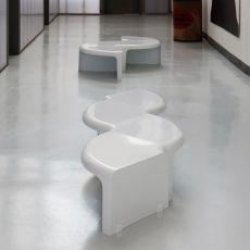 4 - 4 - Tavolino o libreria modulare di design B-Line, in ABS di diversi colori