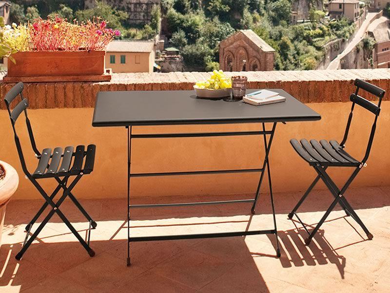 Arc En Ciel 334: Table pliable Emu en métal, disponible en ...