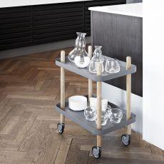 Block - Carrello Normann Copenhagen in metallo e legno, diversi colori disponibili, con ruote