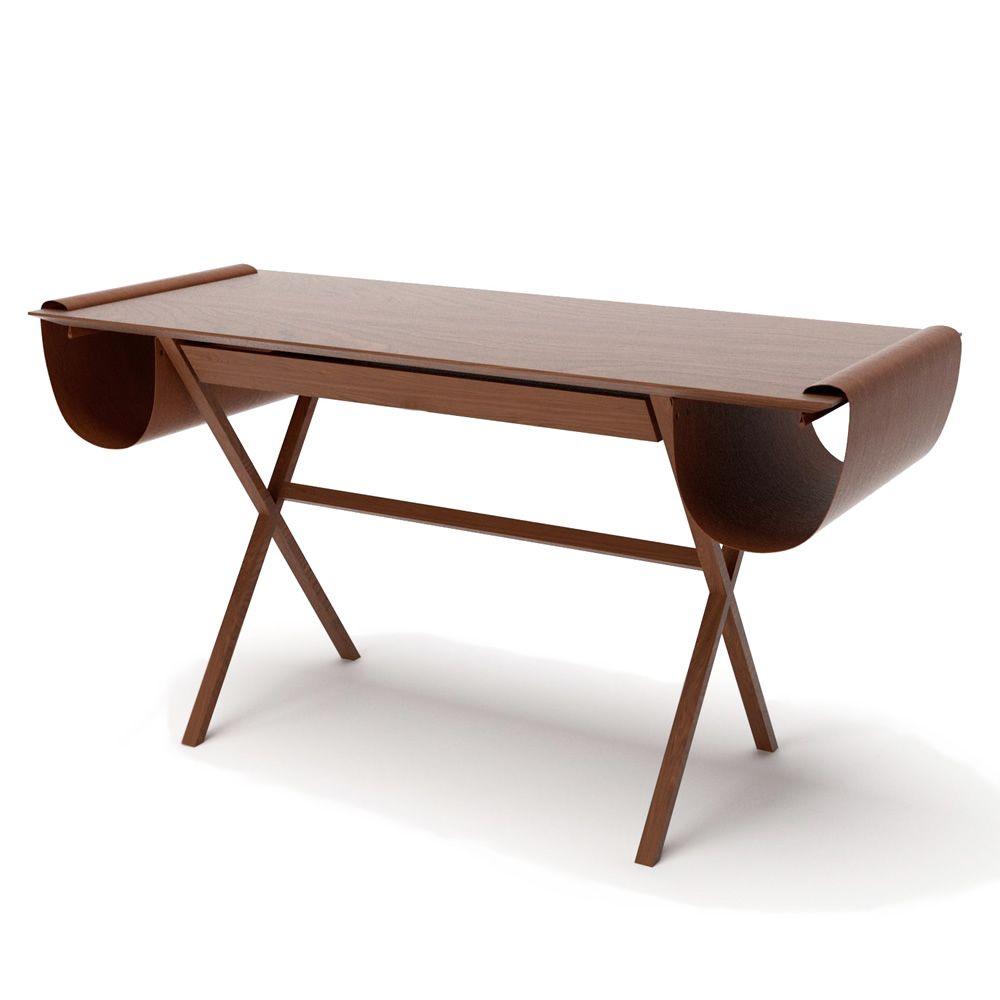 oscar schreibtisch valsecchi aus holz mit tasche als. Black Bedroom Furniture Sets. Home Design Ideas