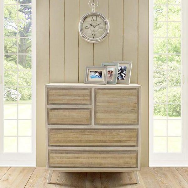 clusia meuble shabby chic en bois avec fa ade et tiroirs. Black Bedroom Furniture Sets. Home Design Ideas