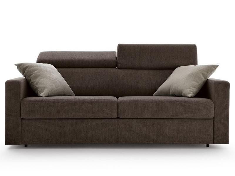 Eros divano letto moderno a 2 o 3 posti maxi con poggiatesta reclinabile sediarreda - Divano 3 posti letto ...