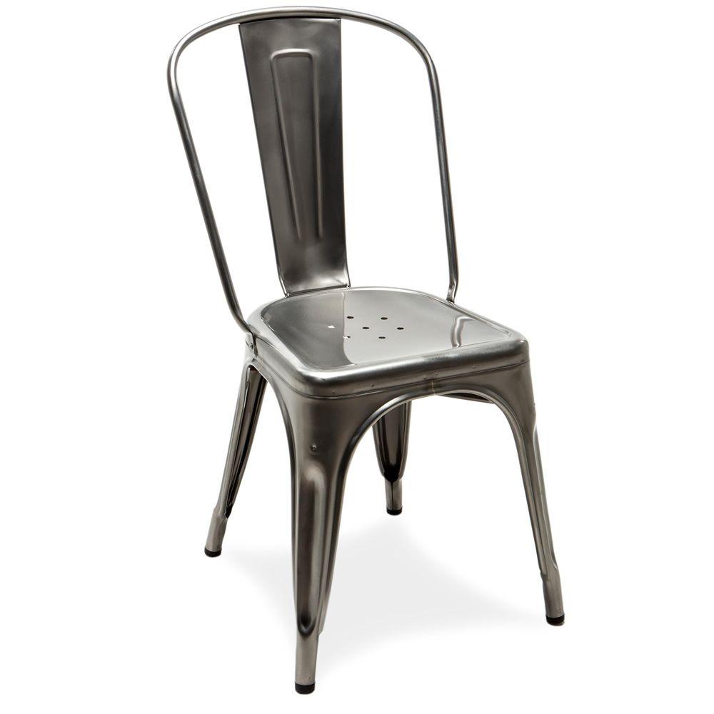 A chair sedia tolix di design in metallo impilabile for Sedia di design