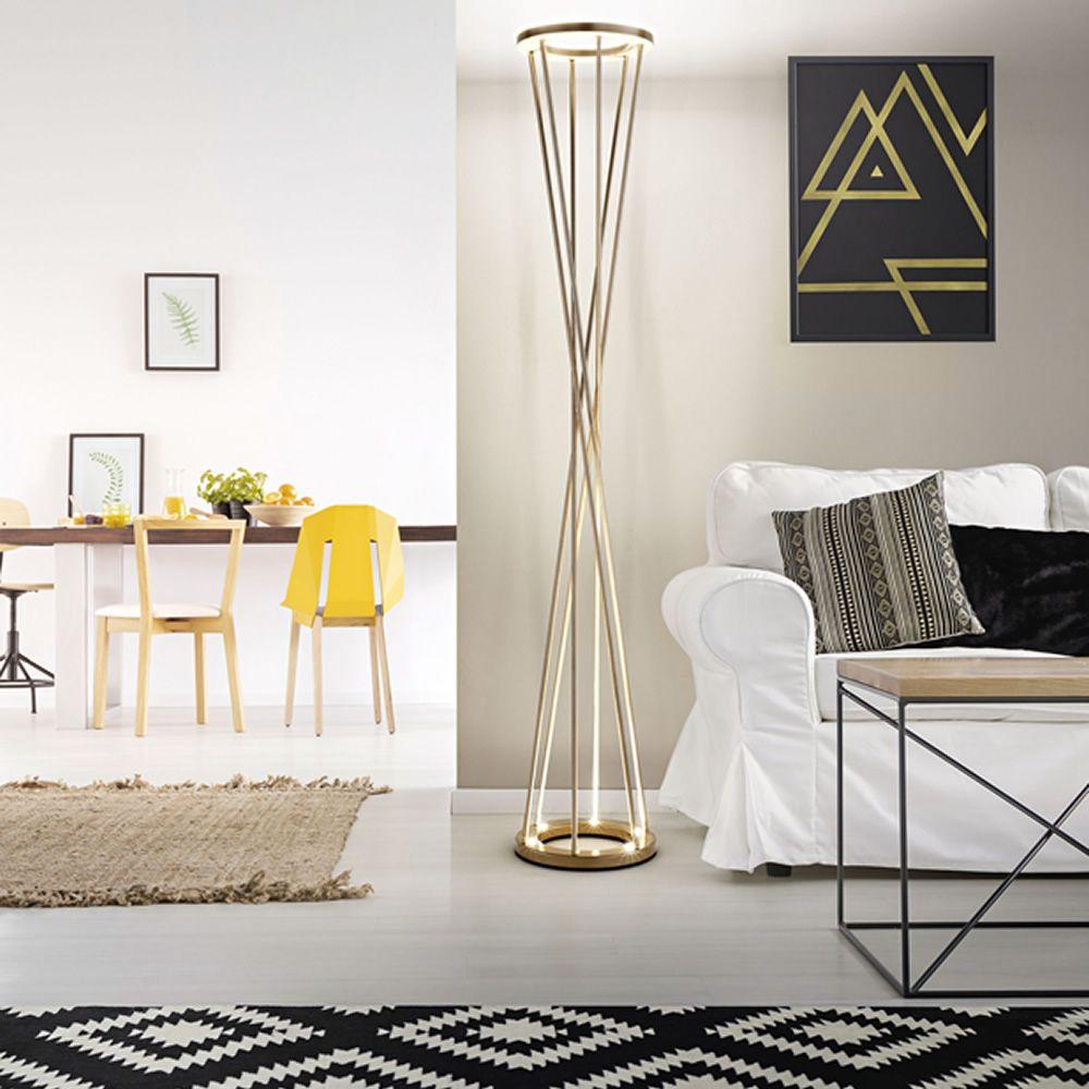 Lampe De Sol Design : fa3369lt lampe de sol en m tal clairage led ~ Nature-et-papiers.com Idées de Décoration