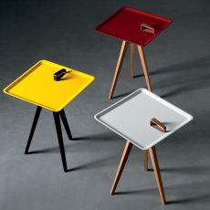 Servolino - Tavolino Miniforms in legno, con vassoio quadrato in mdf