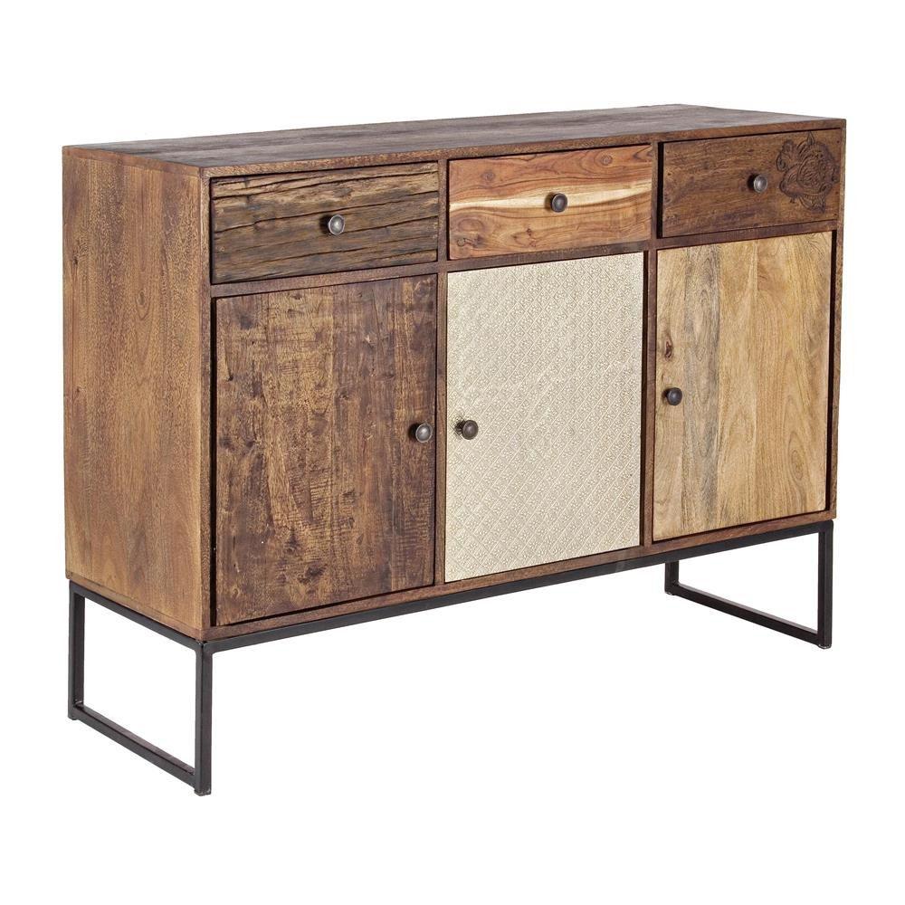 Abuja 3a 3c credenza vintage per soggiorno in legno con for Mobili soggiorno legno