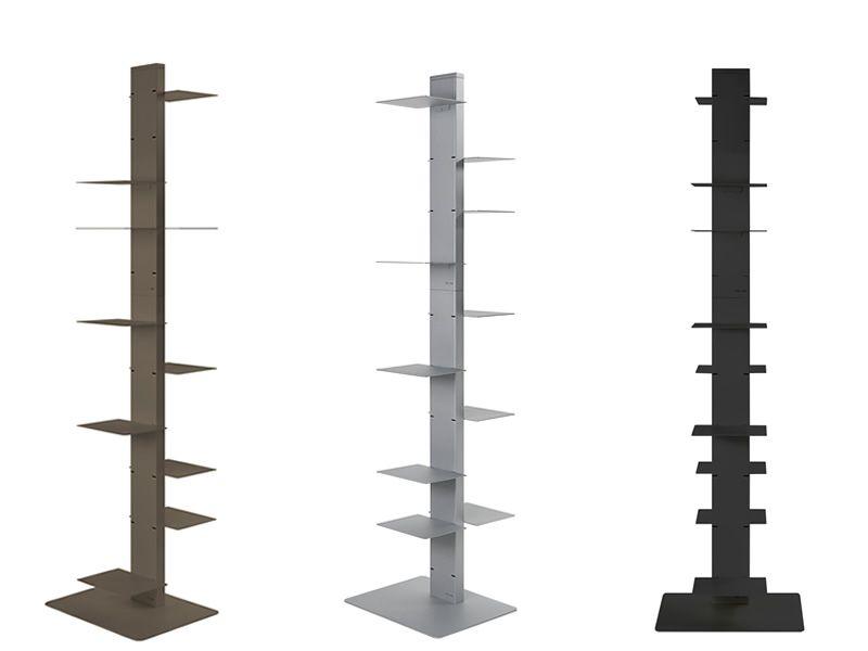 witty vertikales b cherregal aus metall in verschiedenen. Black Bedroom Furniture Sets. Home Design Ideas