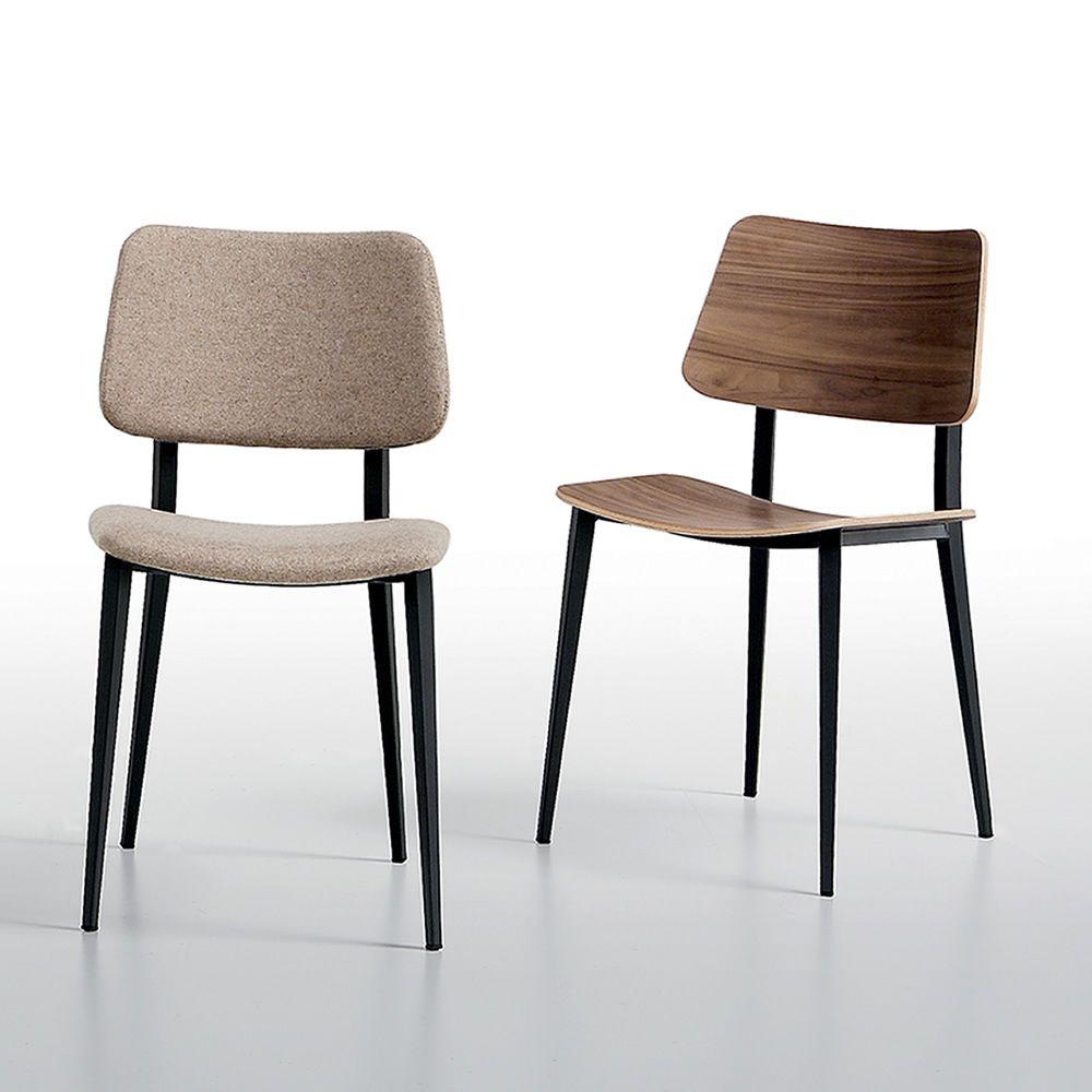 joe stuhl midj aus metall mit sitz aus holz sediarreda. Black Bedroom Furniture Sets. Home Design Ideas