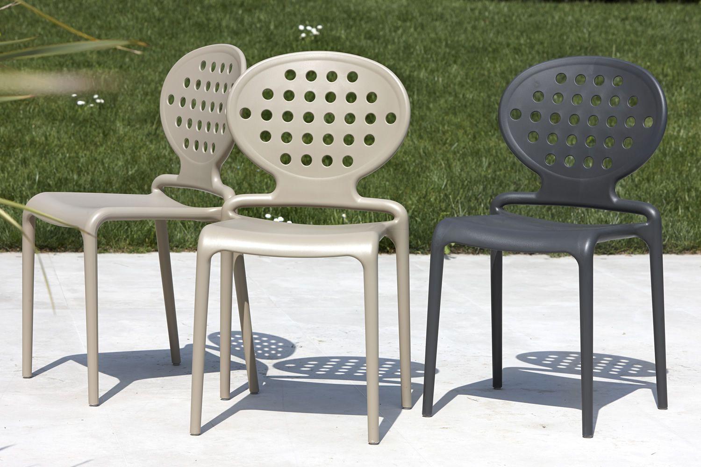 Colette 2283 sedia moderna in tecnopolimero impilabile anche per