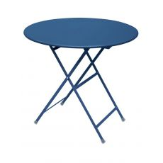 Arc En Ciel 346 - Emu table in metal, folding, available with round top available in several colours