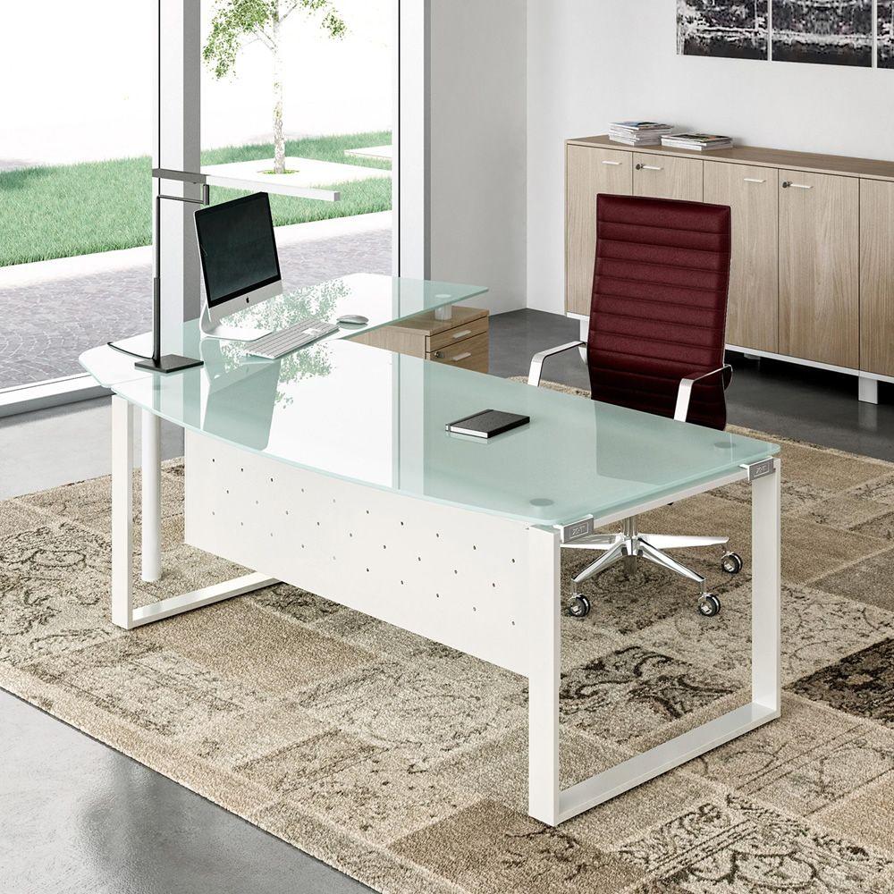 X time work 04 scrivania da ufficio con penisola e for Mobili da reception