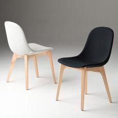 Gotham Wood Soft - Sedia di design Chairs&More, in legno con seduta imbottita, disponibile in diversi colori