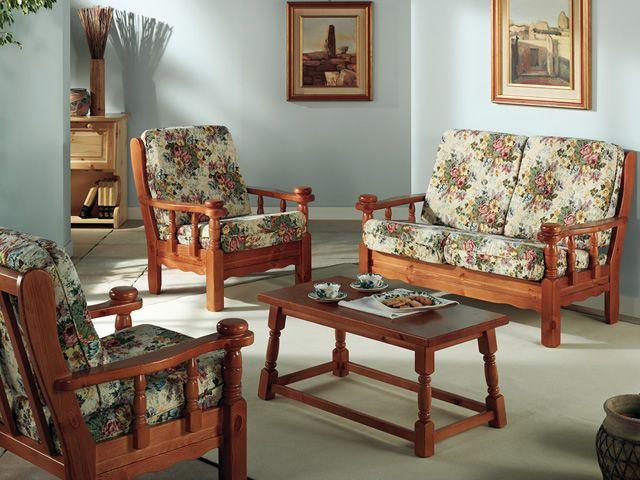 Tirolo divano divano rustico in legno con cuscino a 2 o - Divano stile inglese ...