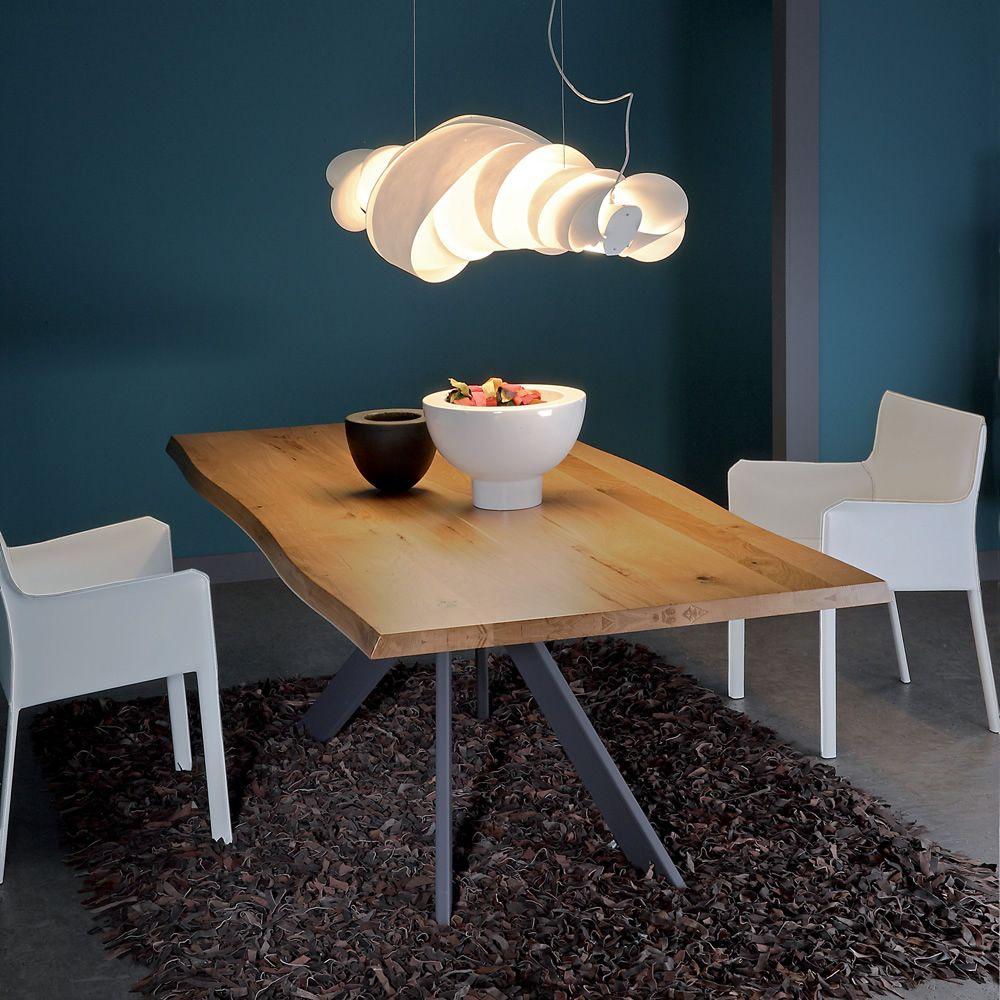 Vr63 tavolo in metallo con piano in legno diverse finiture disponibili sediarreda - Tavolo con sedie diverse ...