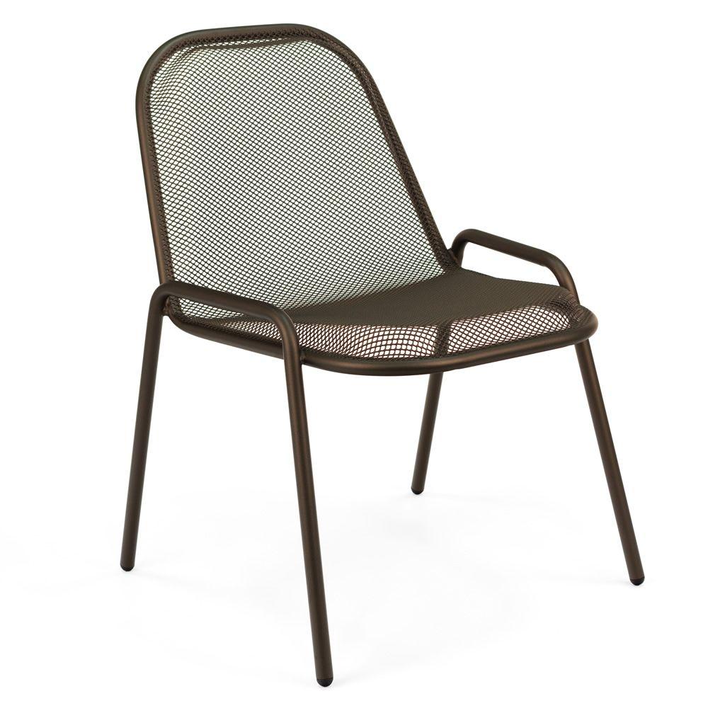 Wunderbar Metall Stuhl Galerie Von Golf - Metallstuhl In Der Farbe Indien-braun