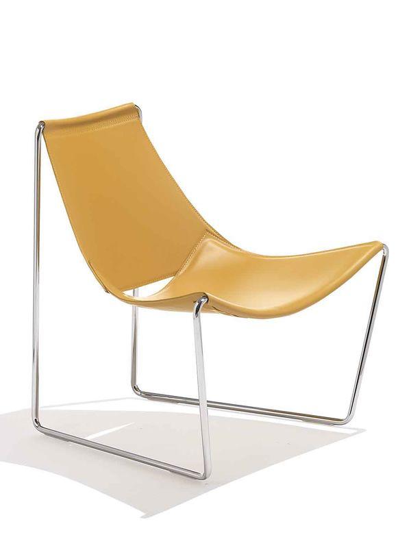Sgabello Cuoio Design Apelle Midj : Apelle at sedia midj in metallo seduta cuoio o legno