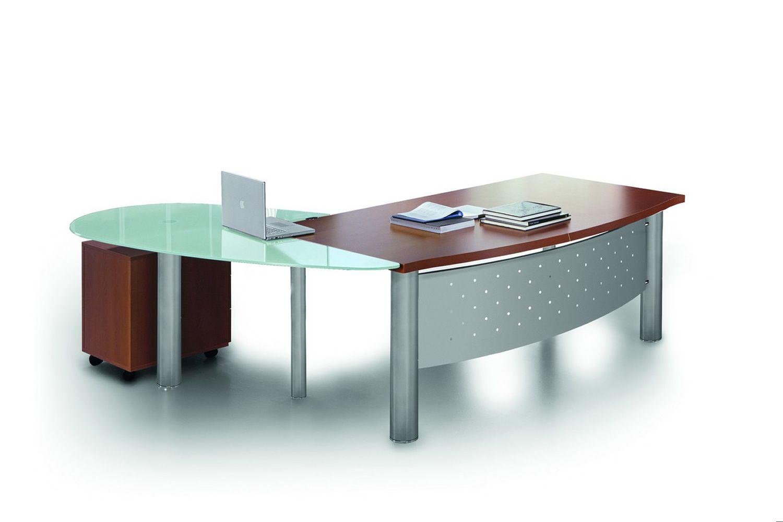X time work 01 scrivania da ufficio con penisola in for Piano scrivania
