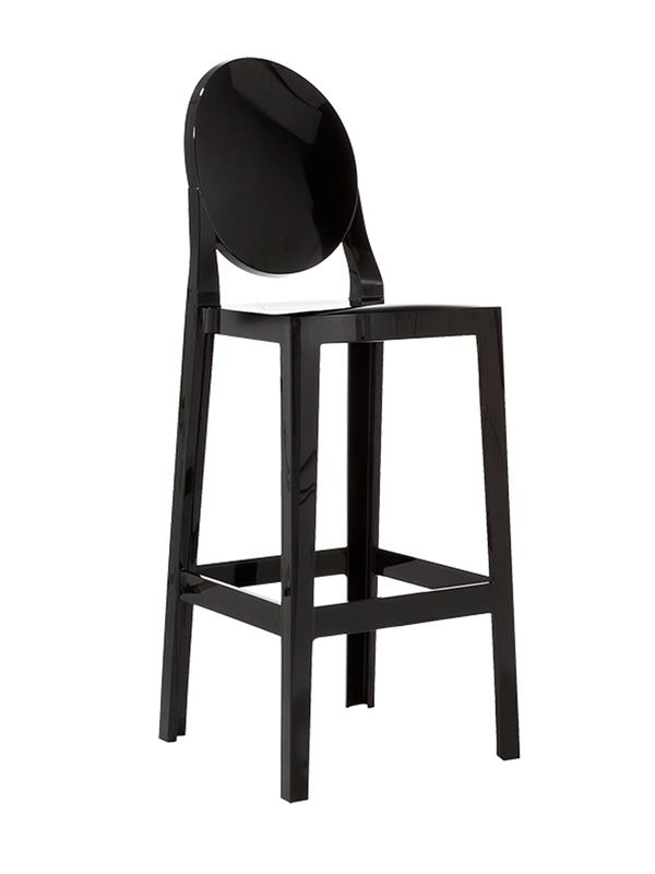 one more tabouret kartell design en polycarbonate hauteur assise 65 cm ou 75 cm aussi pour. Black Bedroom Furniture Sets. Home Design Ideas