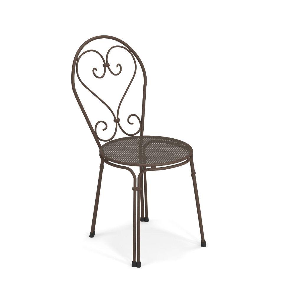 Pigalle 909 silla emu met lica y apilable para jard n - Silla metalica apilable ...