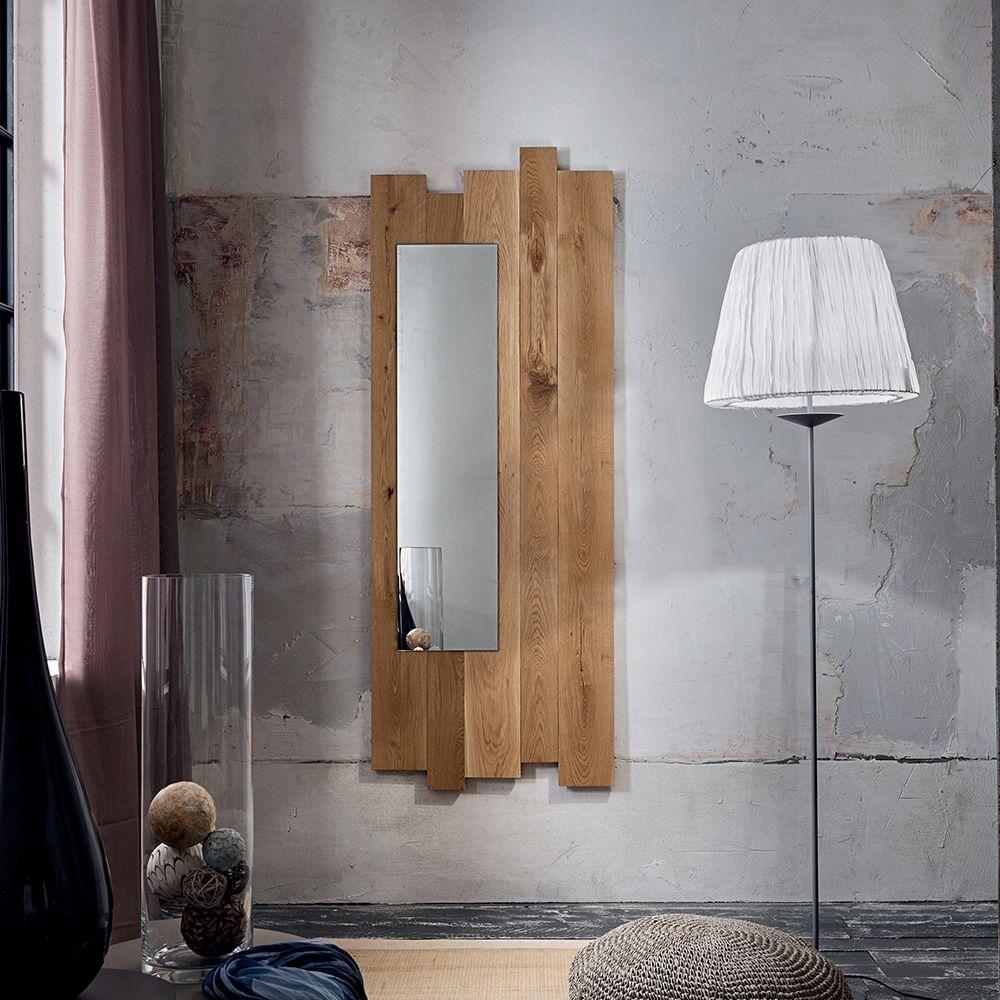 pa4130 spiegel mit rahmen aus eichenholz in zwei gr en verf gbar. Black Bedroom Furniture Sets. Home Design Ideas