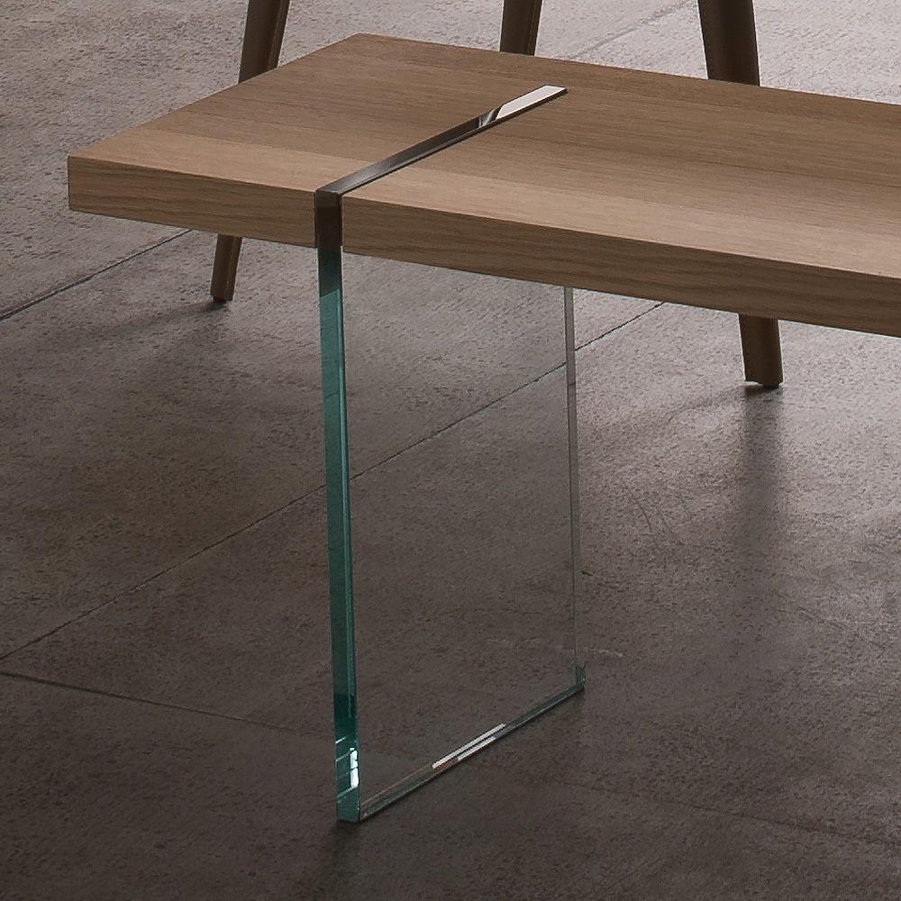 agazia p banc design avec pi tement en verre assise disponible en diff rents mat riaux et. Black Bedroom Furniture Sets. Home Design Ideas