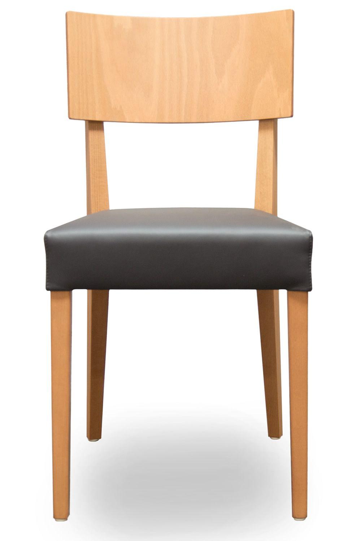 Fesselnd Barley   Stuhl Mit Gestell Aus Buche In Natur Lasiert Und Sitz Aus  Schwarzem Leder