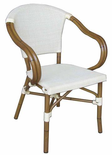 B16 sedia con braccioli per giardino in alluminio e pvc for Sedie in alluminio