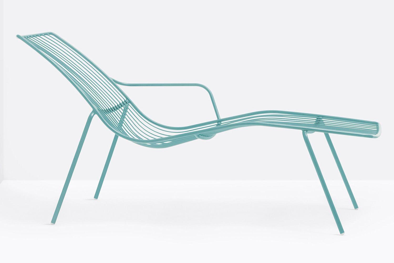 nolita chaise longue sonnenliege pedrali aus metall f r den au enbereich sediarreda. Black Bedroom Furniture Sets. Home Design Ideas