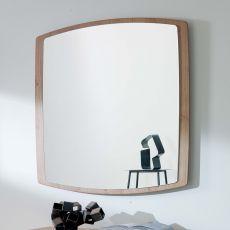 Boat - Espejo moderno con marco de MDF, disponible en varios acabados y tamaños