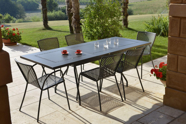 rig21s: chaise en métal empilable, en différentes couleurs, pour